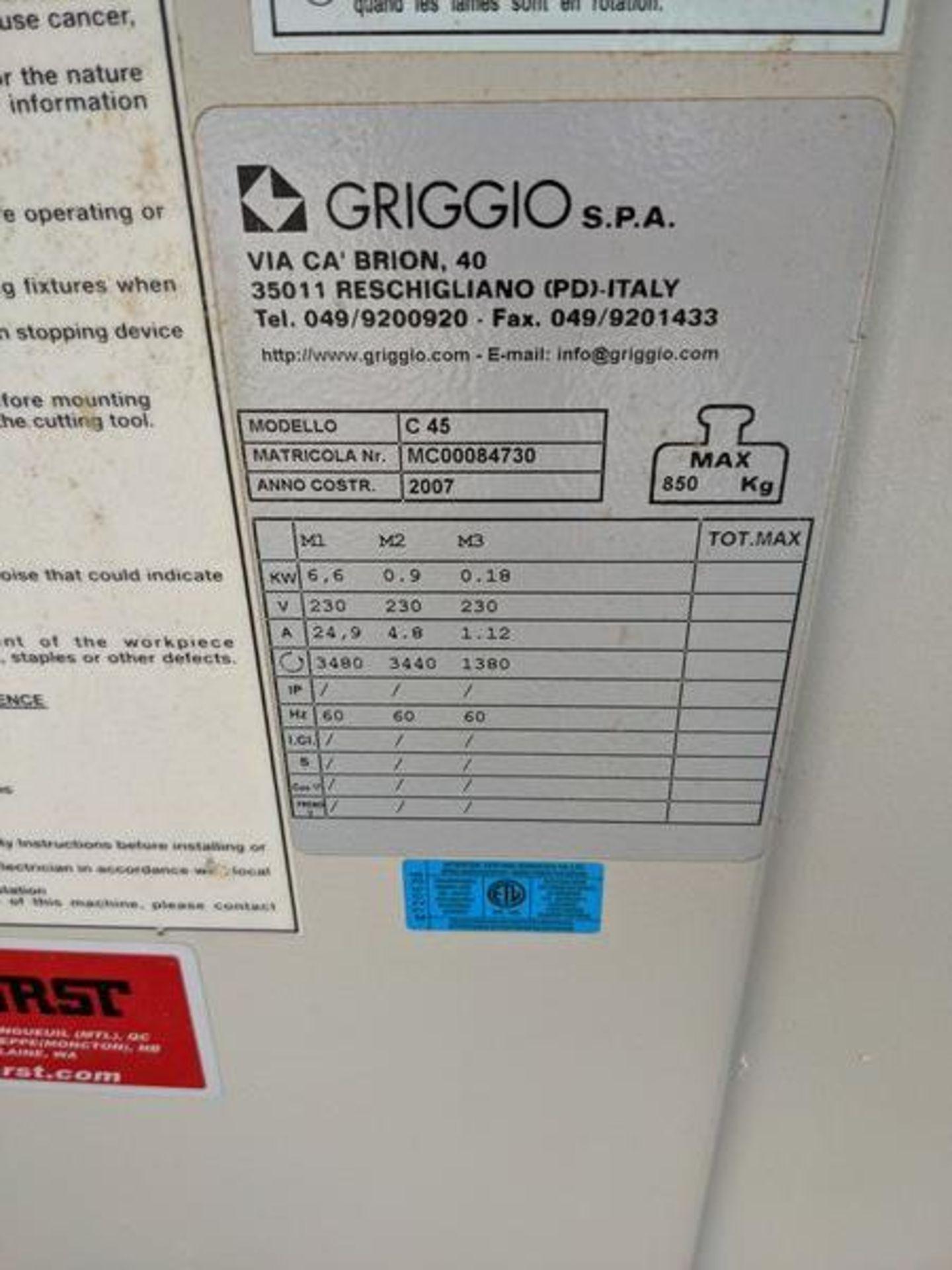 GRIGGIO C-45 Sliding Table Saw - Image 2 of 3