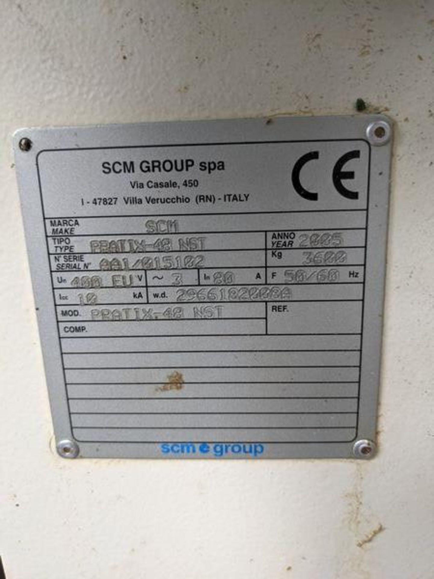 SCM PRATIX 48 NST CNC Nesting Machine with 2 Transformers and 2 Vacuum Pumps - Image 2 of 5