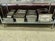 Lot of Stainless Steel Inserts and Duke Soup Warmer