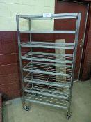 Franesse 8 Tier Stainless Steel Welded Meat Trolley