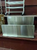 """Two 36"""" Stainless Steel Wall Shelves"""
