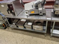 """Approx. 30 x 72"""" Stainless Steel Work Table"""
