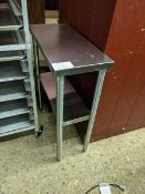 """28 x 12"""" Two Tier Custom Stainless Steel Table"""