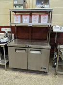 """EFI 48"""" Undercounter cooler with 2 Tier Over shelf"""