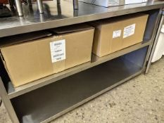 """Approx. 30 x 59"""" Three Tier Stainless Steel Custom Counter"""