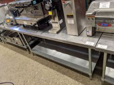 """Approx. 30 x 72"""" Two Tier Stainless Steel Work Table"""