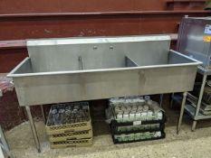 Custom 3 Well Stainless Steel Sink