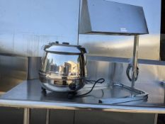 Soup Kettle and Heat Lamp