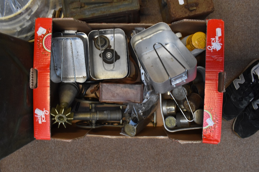 A mixed group including military issued jerry can, mixed cameras and equipment, shell casings, etc. - Image 3 of 3