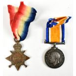 A World War I War Medal and 1914-15 Star duo awarded to 52662 Pte. (Star) and A.Cpl. (War) S.J.