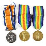 A World War I War and Victory Medal duo awarded to 38339 Pte. A. Wood L'Pool. R. and a single