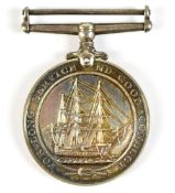 A Royal Naval General Service Medal awarded to M.X. 45845 W.A. Finch S.C, P.O. H.N.S. Rooke.