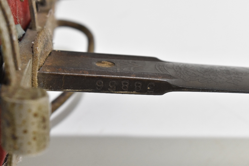 HENRY WILKINSON LONDON; a Scottish Highland Infantry Officer's sword with etched detail to the - Image 3 of 10