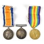 A World War I War and Victory Medal duo awarded to 5333 Pte. H. Simpson K.O.Y.L.I. Kings own
