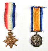 A World War I War Medal awarded to 200441 Gnr. G.R. Cobban. R.A. and a 1914 Mons Star awarded to