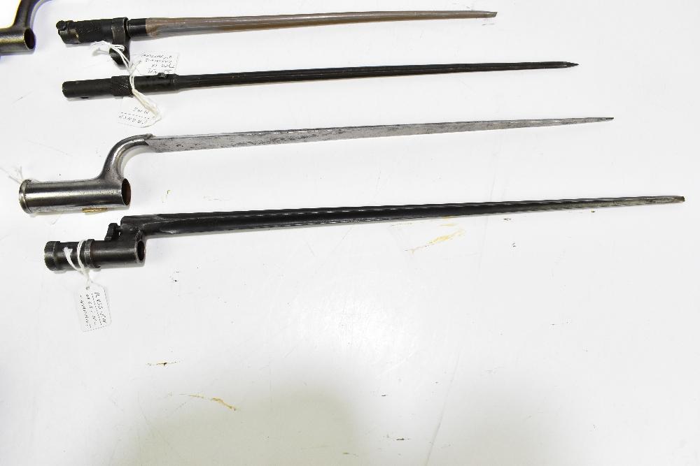 Five socket bayonets comprising South American, Russian, Mosin-Nagant, Chinese Type 56 carbine, - Image 2 of 4