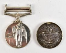 A George V India Medal awarded to 1784 Sepoy Khalil Khan 2/129/Baluchis (holed) and a George VI