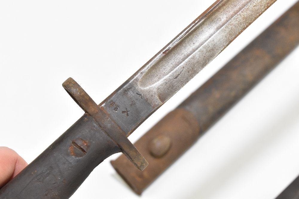 Two bayonets including a 1907 Pattern British example, each complete with scabbard, length of - Image 4 of 8