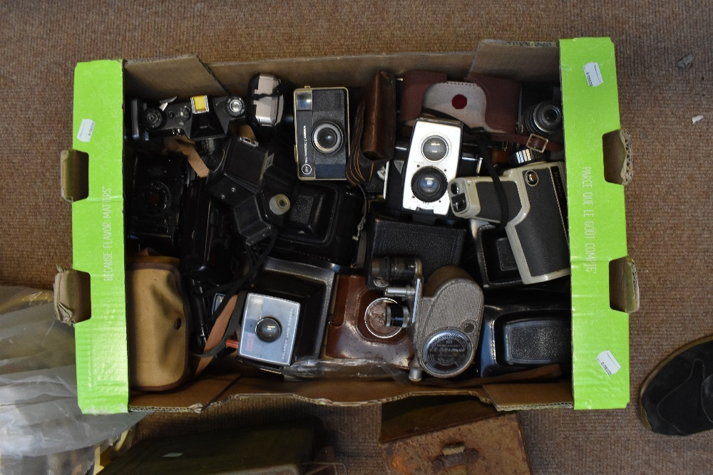 A mixed group including military issued jerry can, mixed cameras and equipment, shell casings, etc. - Image 2 of 3