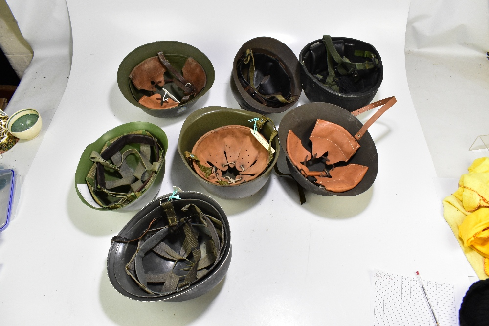 Seven military and public service helmets comprising Czechoslovakian Army MVZ, Yugoslavian Army - Image 2 of 4