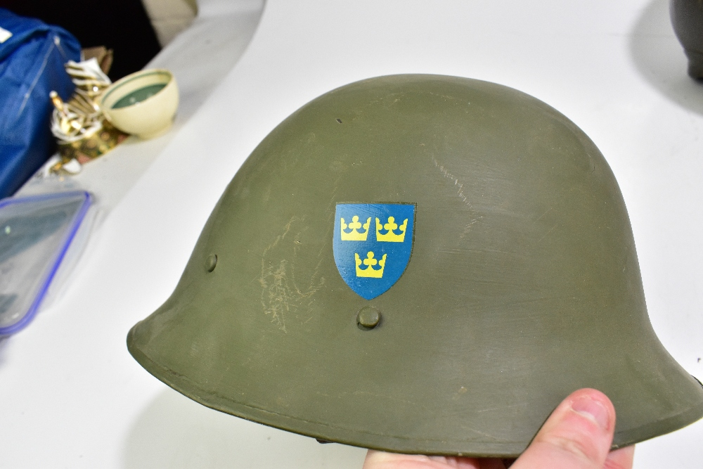 Seven military and public service helmets comprising Czechoslovakian Army MVZ, Yugoslavian Army - Image 3 of 4