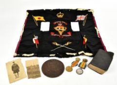 A WWI Killed in Action group awarded to S-10631 Thomas Rexstraw Seaforth Highlanders comprising