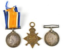 A World War I War Medal and 1914-15 Star duo awarded 1790 Pte. (Star) and A.Cpl. (War Medal) W.H.