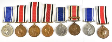 Eight Police Medals comprising three Long Service and Good Conduct Medals awarded to Const. Reginald