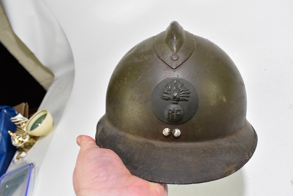 Seven military and public service helmets comprising Czechoslovakian Army MVZ, Yugoslavian Army - Image 4 of 4
