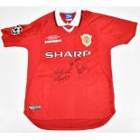 MANCHESTER UNITED FC; an Only Football Umbro reproduction 1998-99 season Champions League Final