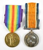 A World War I War and Victory Medal duo awarded 61228 Pte. A.H. Herbert N'd. Fus. (2).Additional