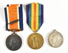 Three World War I Canadian Issue Medals comprising a War and Victory duo awarded to 160464 Pte. W.J.