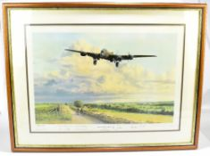 ROBERT TAYLOR; a limited edition coloured print, 'Early Morning Arrival', signed by the artist and