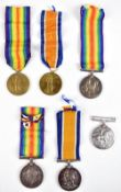 Six World War I medals comprising three War Medals awarded to 223201 Dvr. E.G. Simpson R.A., M2-