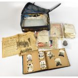 A large quantity of WWII ephemera to include Order of Release documents, numerous letters, VAD