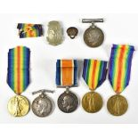 Six World War I Medals comprising a War and Victory duo awarded to 487505 Pte. W. Evans C.A.M.C.,