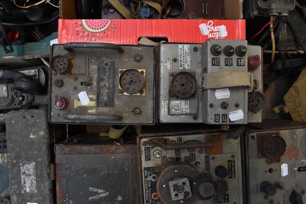 A large quantity of military radios and radio equipment including numerous military issue wireless - Image 12 of 12