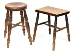Two 9th century country stools,