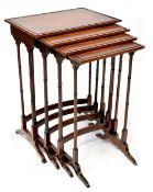 A Regency-style mahogany quartetto,