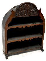 Antique oak shelves,