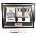 A framed montage relating to the Blackpool versus Bolton Wanderers FA Cup Final of 1953 with