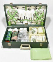 BREXTON; a cased vintage picnic set.