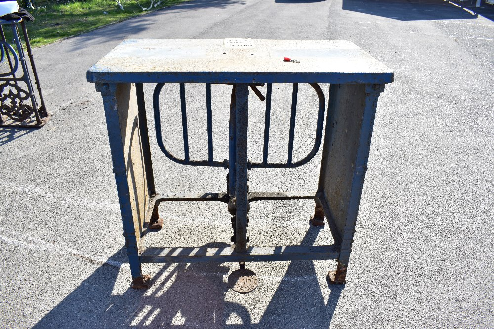 MACCLESFIELD TOWN FOOTBALL CLUB INTEREST; two early 20th century cast iron turnstiles by Bailey - Image 3 of 15