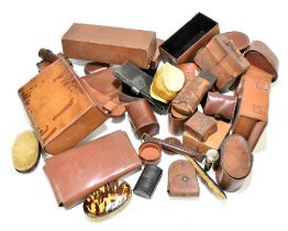 A very large and interesting collection of leather goods,predominantly early 20th century,