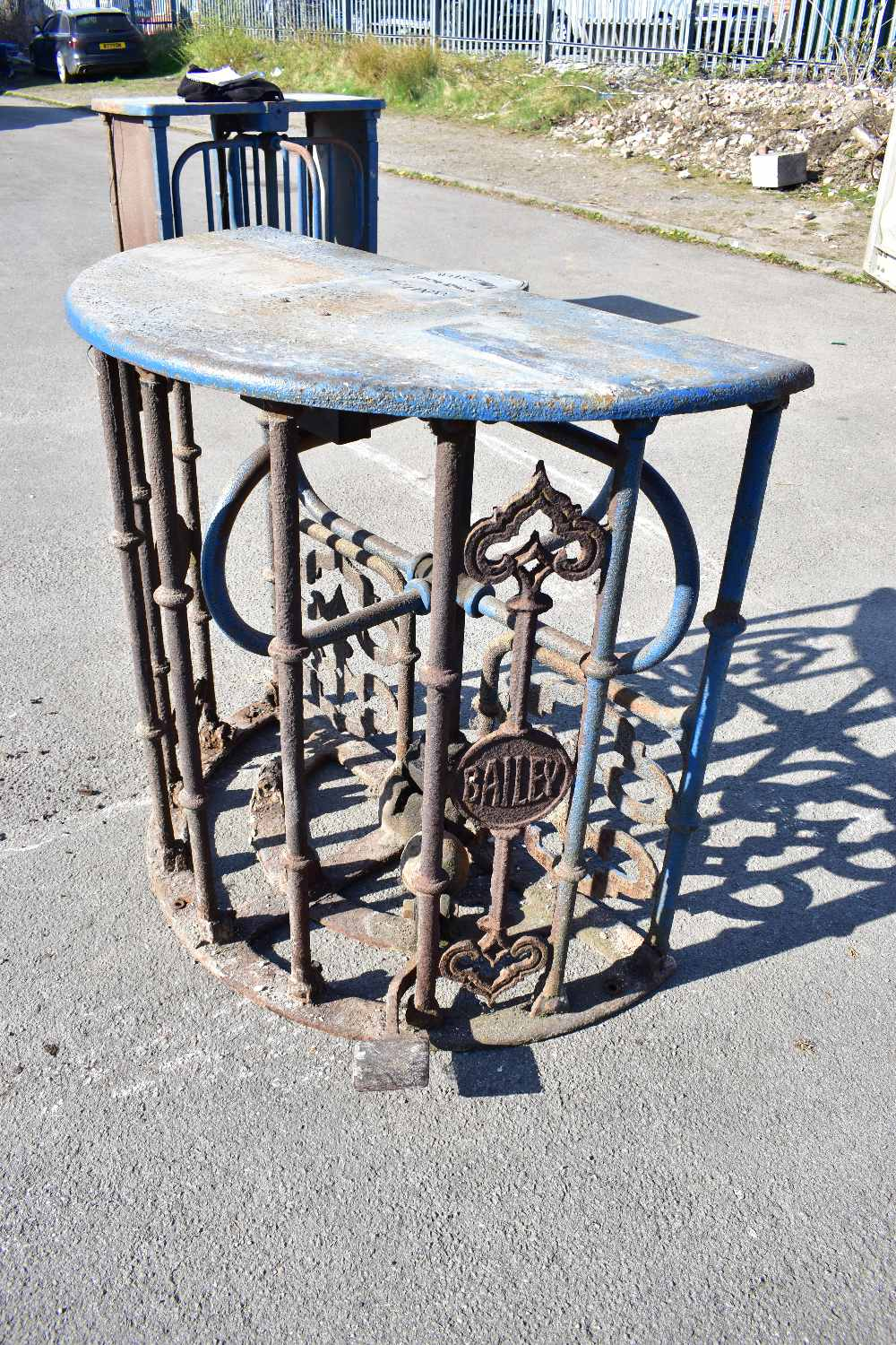 MACCLESFIELD TOWN FOOTBALL CLUB INTEREST; two early 20th century cast iron turnstiles by Bailey - Image 10 of 15