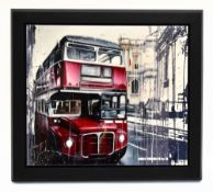 KRIS HARDY; oil on canvas, 'London Bus', signed lower right, 71 x 81cm, framed. (D) Additional