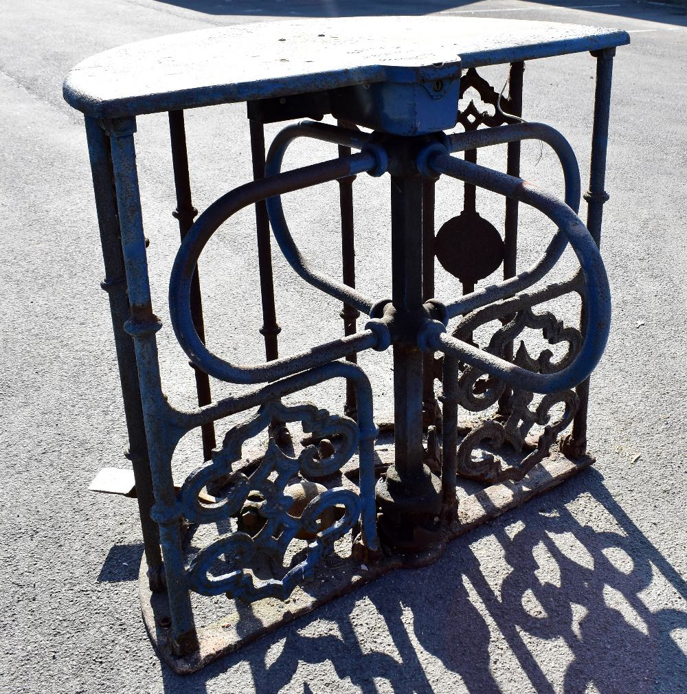 MACCLESFIELD TOWN FOOTBALL CLUB INTEREST; two early 20th century cast iron turnstiles by Bailey - Image 15 of 15