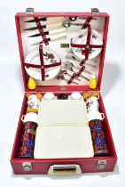 BREXTON; a cased picnic set, complete with Thermos flasks.