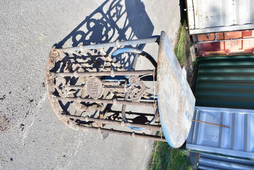 MACCLESFIELD TOWN FOOTBALL CLUB INTEREST; two early 20th century cast iron turnstiles by Bailey - Image 9 of 15