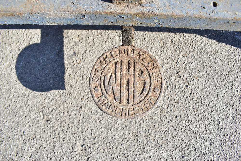 MACCLESFIELD TOWN FOOTBALL CLUB INTEREST; two early 20th century cast iron turnstiles by Bailey - Image 7 of 15
